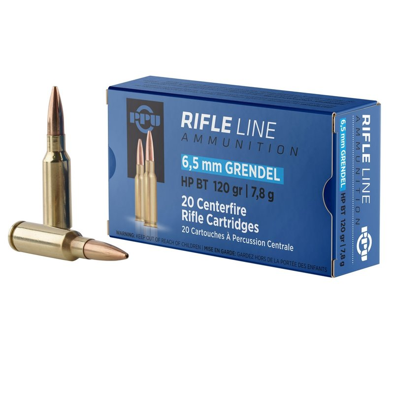 PPU PPU PP6GH Standard Rifle 6.5 Grendel 120 gr Hollow Point Boat Tail (HPBT) 20 Bx