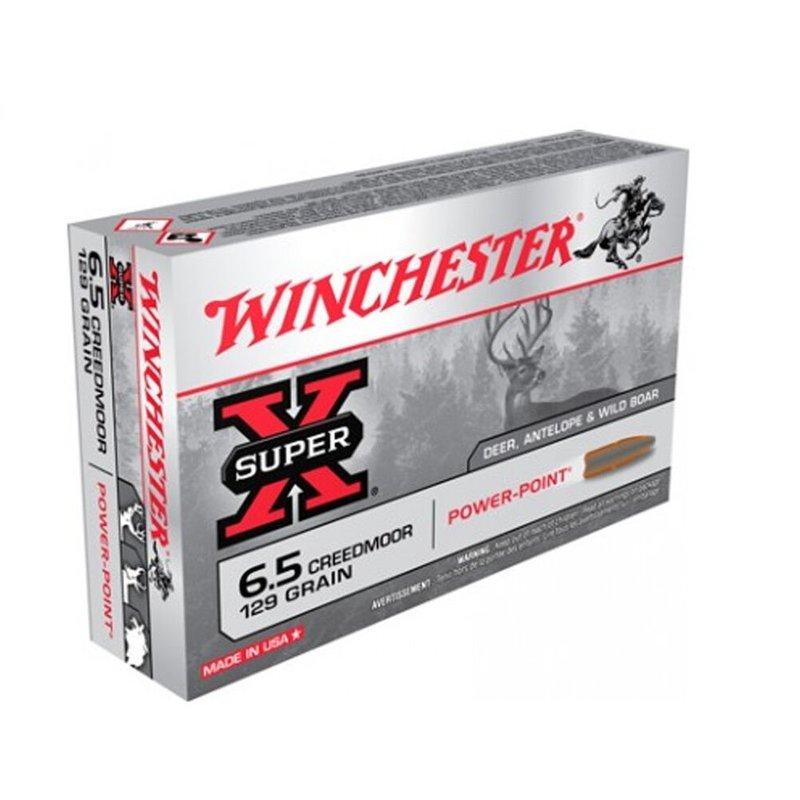 WINCHESTER - AMMUNITION Winchester Ammunition, Super-X, 6.5 Creedmoor, 129 Grain, Power Point, 20 Round Box