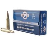 PPU PPU PP2431 Standard Rifle 243 Win 90 gr Soft Point (SP) 20 Bx