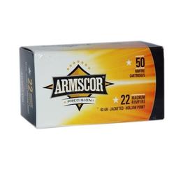 Armscor Armscor FAC22M-1N Ammo 22 WMR, JHP, 40 Grains, 2200
