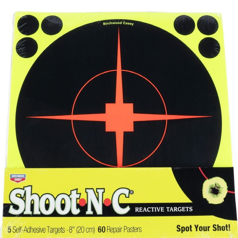 "shoot-n-c Birchwood Casey Shoot-N-C Paper 8"" Bullseye Black 5 Pack"