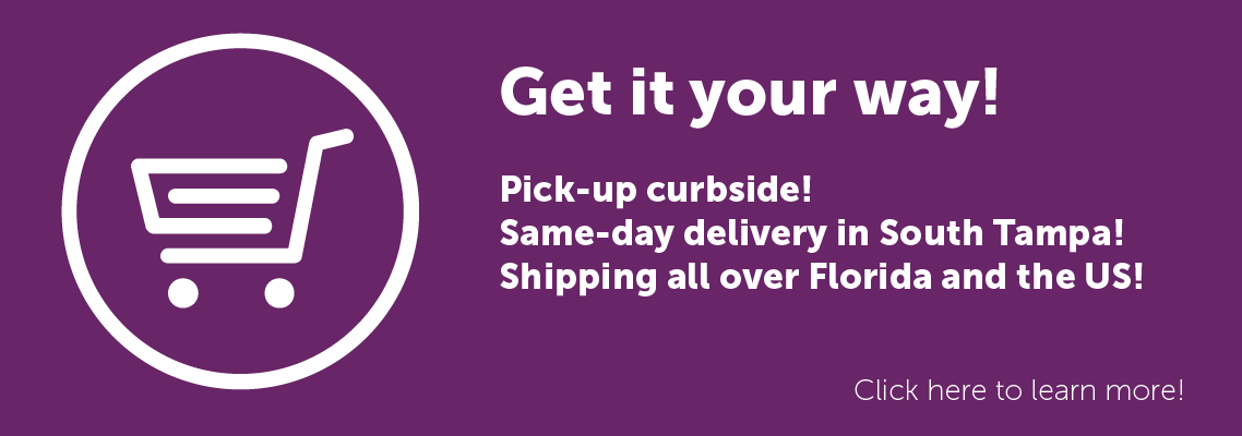 Pick up! Shipping! Delivery! Shop us Online!