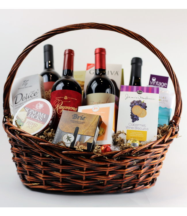 Big and Bold Reds Basket