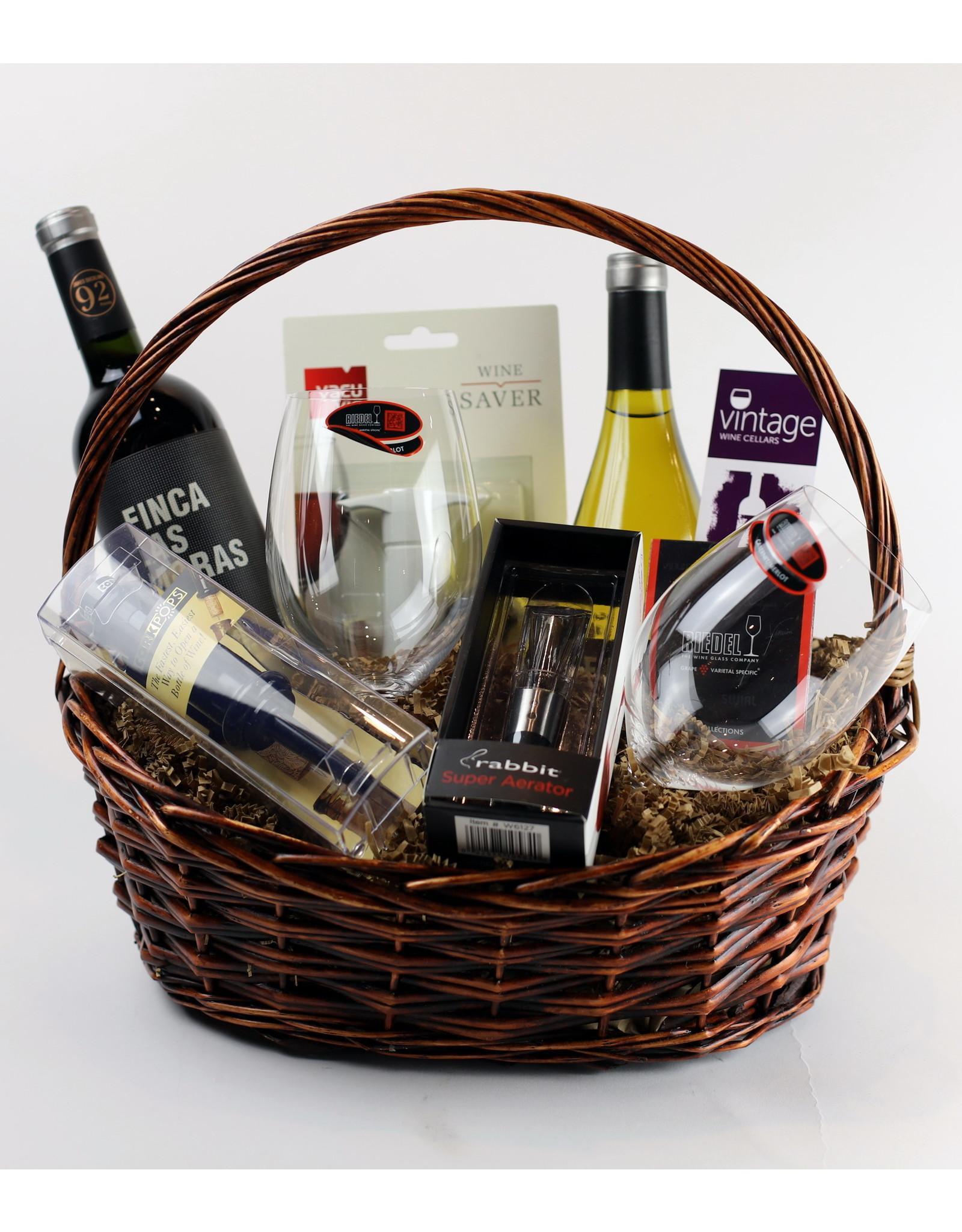 Vintage Wine Cellars Wine Essentials Gift Basket