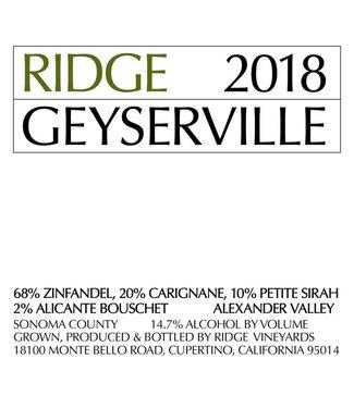 Ridge Vineyards Ridge Zinfandel 'Geyserville' (2018)