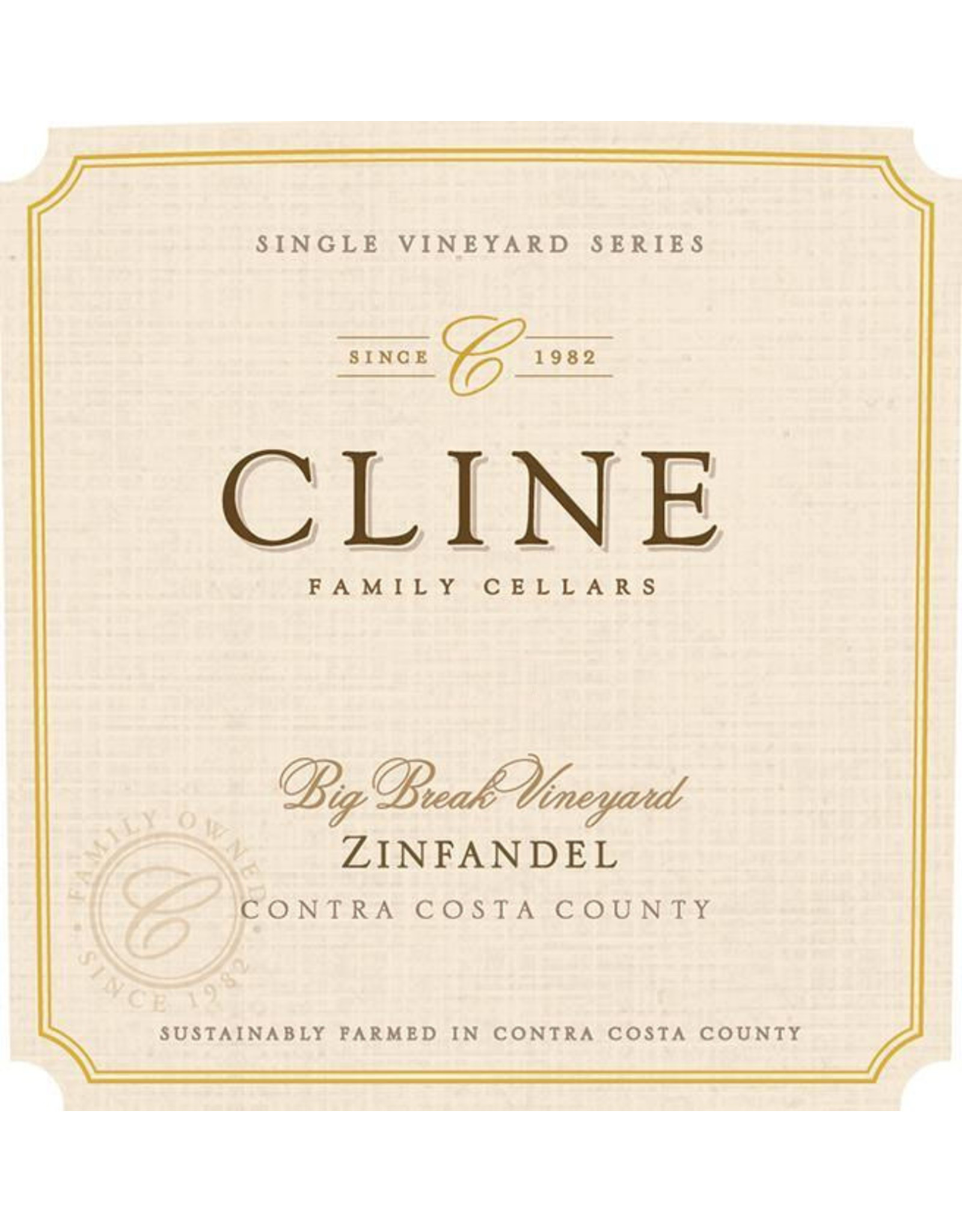Cline Cellars Cline Zinfandel 'Big Break Vineyard' (2017)