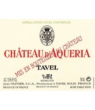 Jean Olivier Jean Olivier Tavel Chateau D'Aqueria (2018)
