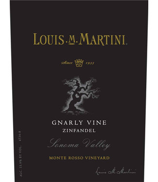 Louis Martini Louis M. Martini Zinfandel 'Knarly Vine' Monte Rosso Vineyard (2015)