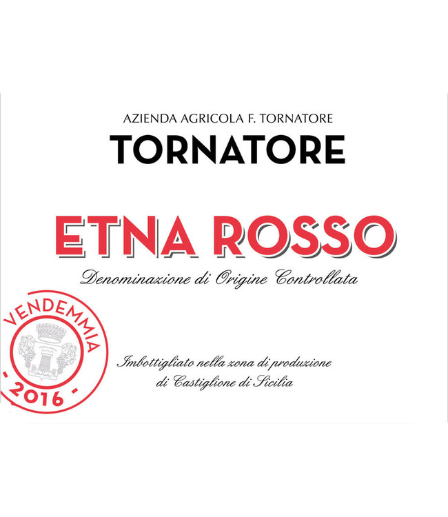 Tornatore Etna Rosso (2016)