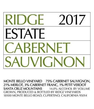 Ridge Vineyards Ridge Vineyards Cabernet Sauvignon 'Estate' (2017) 375ml