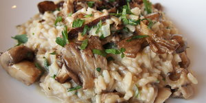 Pairings: Brunello di Montelchino and Mushroom Risotto