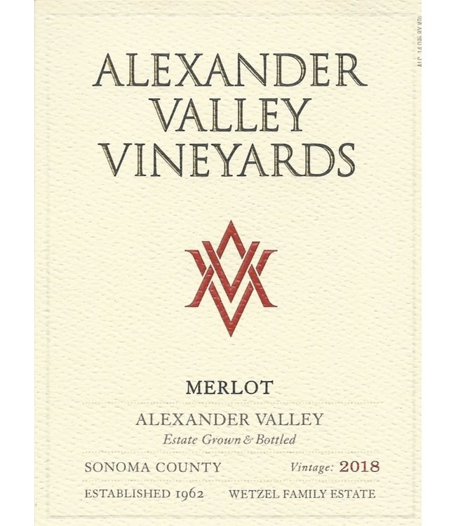 Alexander Valley Vineyards Merlot (2018)