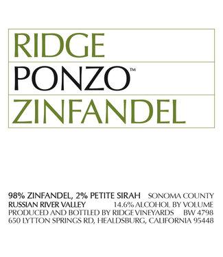Ridge Vineyards Ridge Vineyards 'Ponzo Vineyard' (2018)