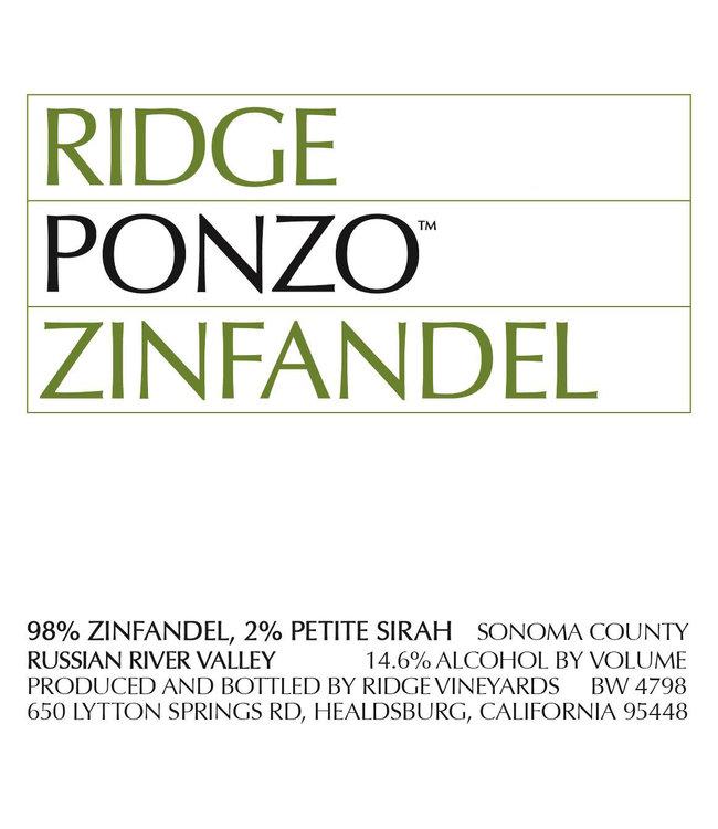 Ridge Vineyards 'Ponzo Vineyard' (2018)