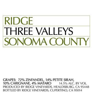 Ridge Vineyards Ridge Vineyards 'Three Valleys' (2019)