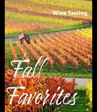 Wine Tasting  - Sep 17 - Fall Favorites