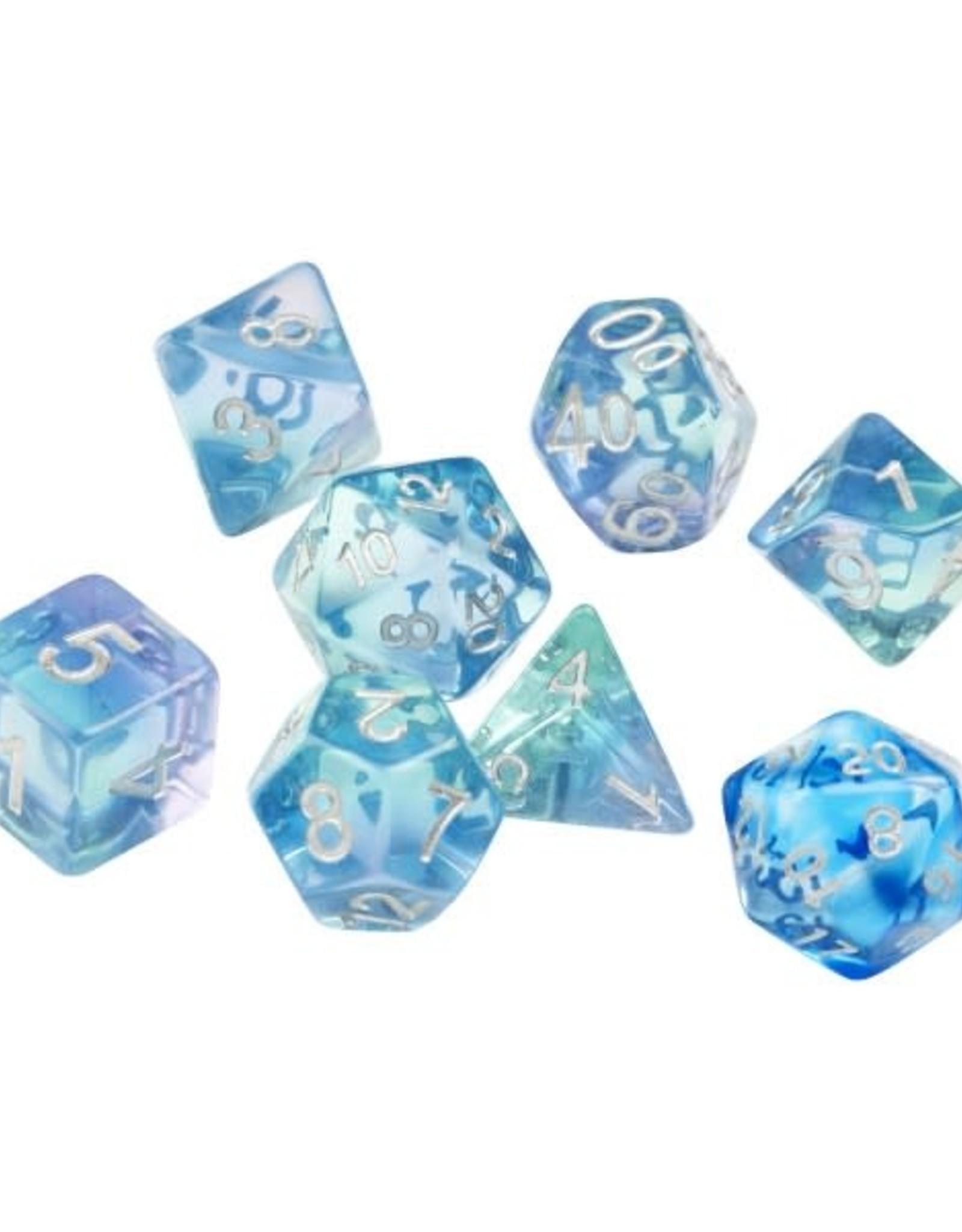 RPG Dice Set (7): Emerald Waters
