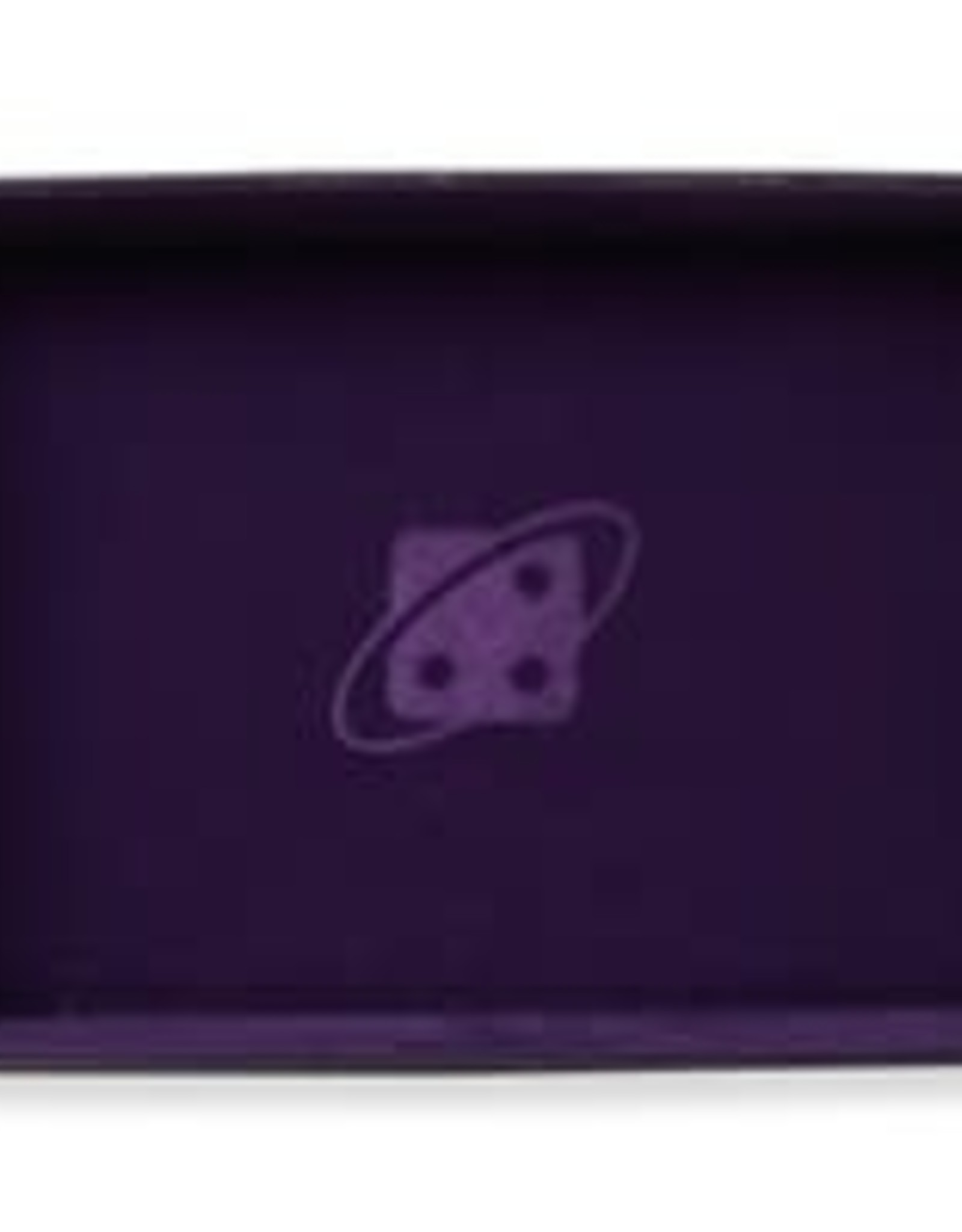 Dice Tray: Rectangle, Folding - Purple, Copper Buttons