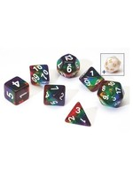 RPG Dice Set (7): Rainbow Translucent Resin