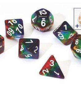 RPG Dice Set (7): Rainbow Translucent Resin