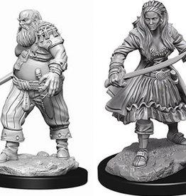 WizKids Deep Cuts Unpainted Miniatures: W4 Pirates
