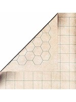 Double-Sided Battlemat With 1 Inch Squares/Hexes