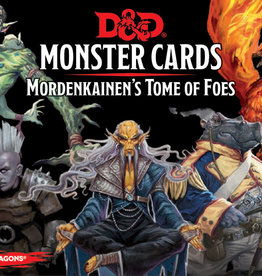 Dungeons and Dragons RPG: Monster Cards - Mordenkainen`s Tome of Foes (109 cards)