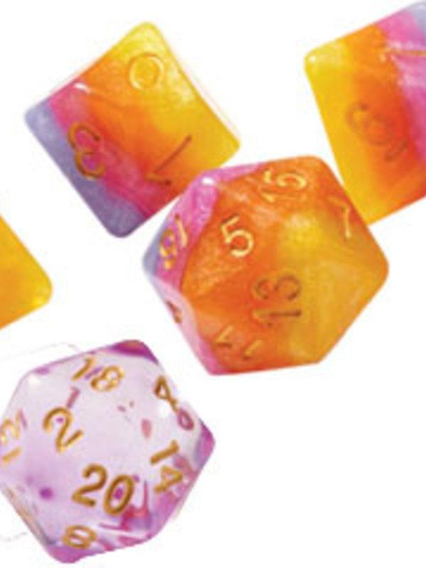 RPG Dice Set (7): Tahitian Sunset