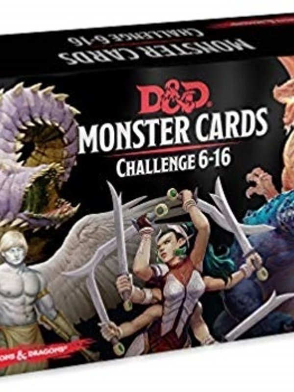 Dungeons and Dragons RPG: Monster Cards - Challenge 6-16 Deck