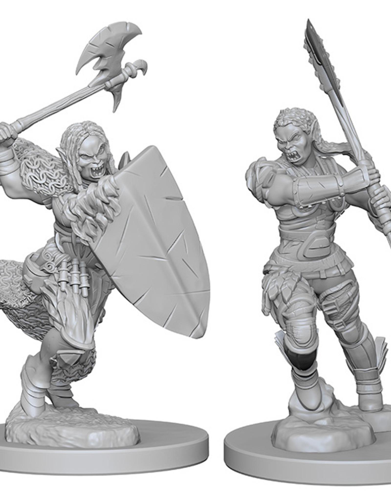Pathfinder Deep Cuts Unpainted Miniatures: W1 Half-Orc Female Barbarian