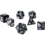 RPG Dice Set (7): Pearl Charcoal Grey Acrylic