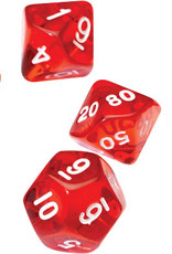 RPG Dice Set (7): Translucent Red Resin