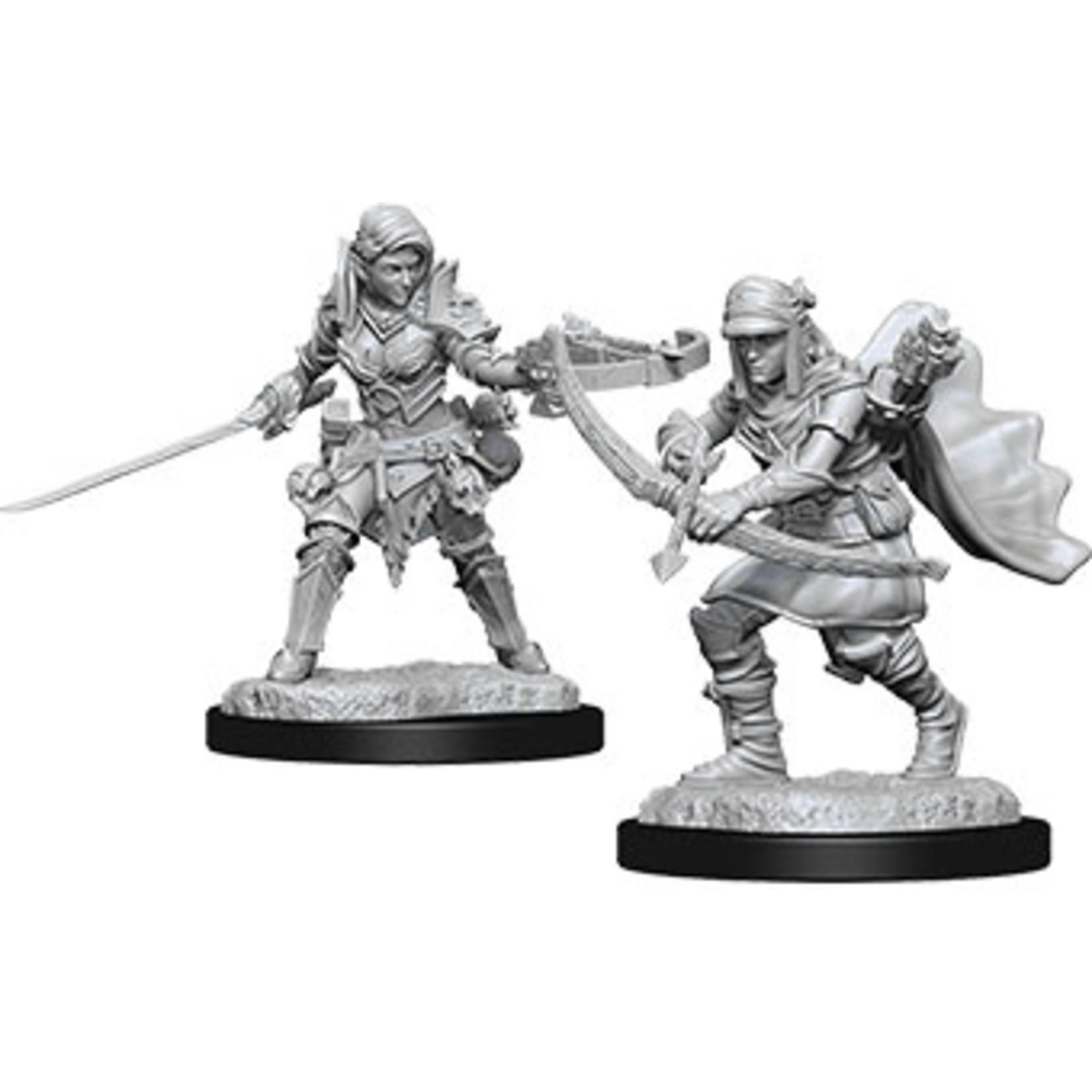 Pathfinder Deep Cuts Unpainted Miniatures: W7 Female Half-Elf Ranger