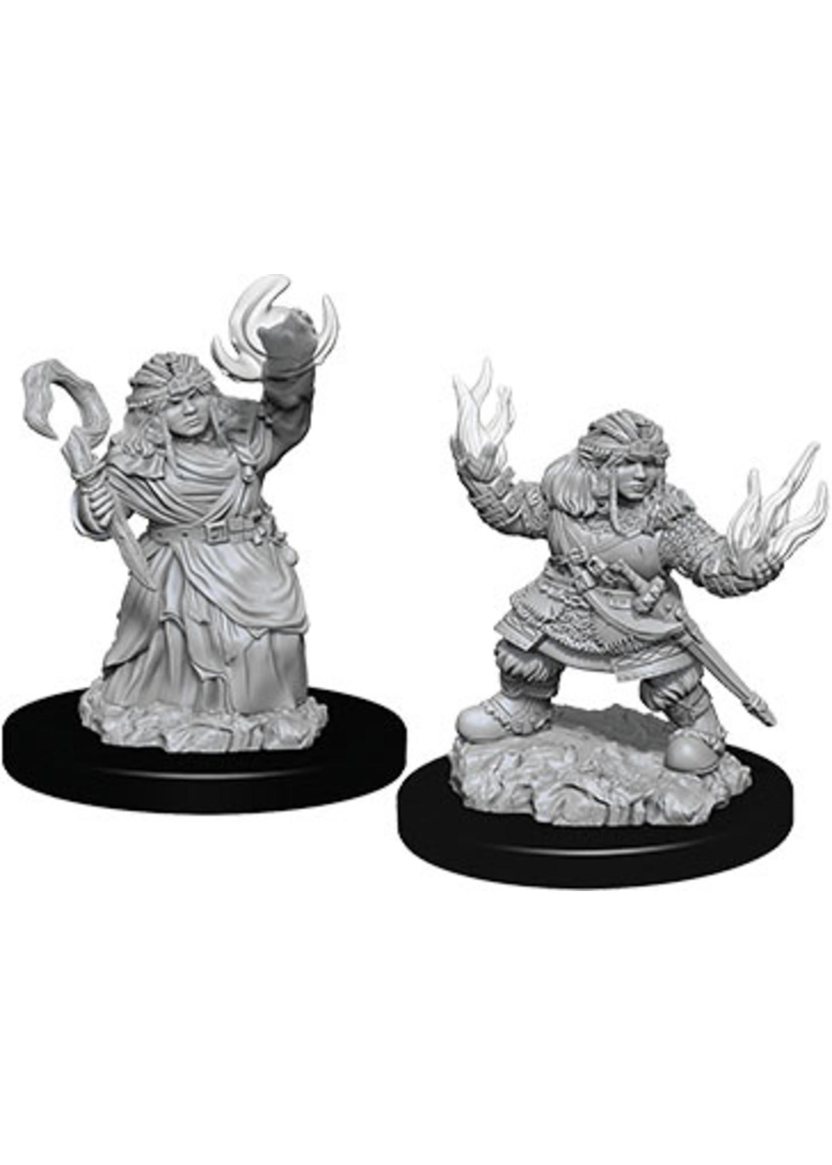 Pathfinder Deep Cuts Unpainted Miniatures: W7 Female Dwarf Summoner