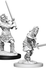 Pathfinder Deep Cuts Unpainted Miniatures: W6 Human Male Barbarian