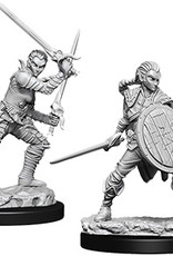 Pathfinder Deep Cuts Unpainted Miniatures: W6 Female Elf Fighter