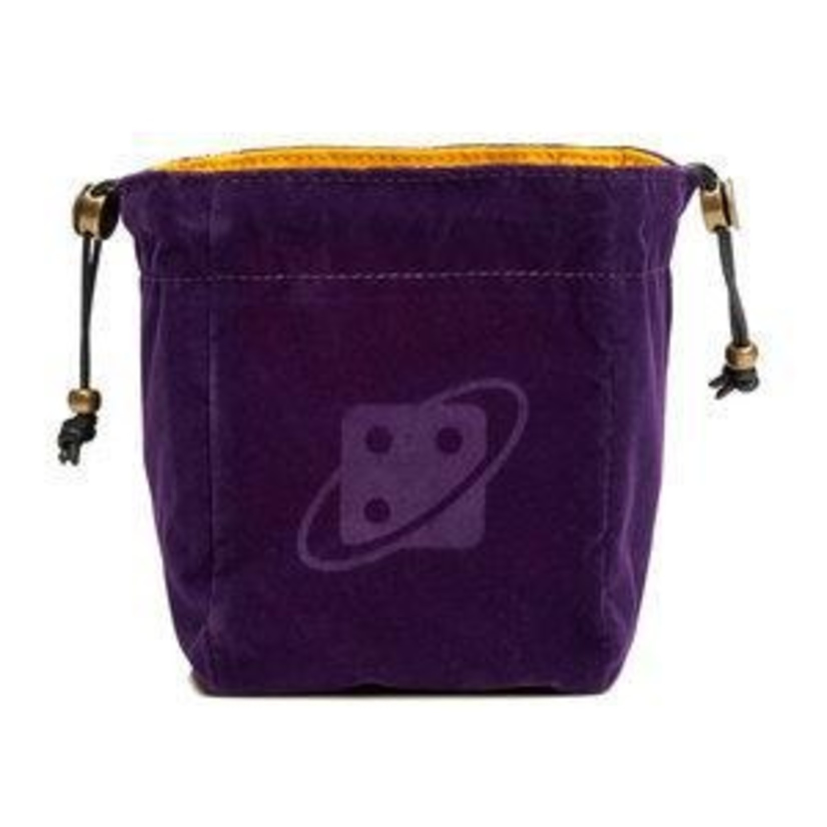 Dice Bag: Reversible - Purple and Gold, Brass Clasp