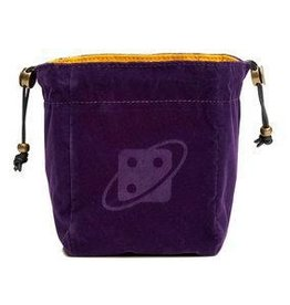 Dice Bag:Premium Reversible - Purple and Gold, Brass Clasp