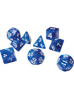 RPG Dice Set (7): Pearl Blue Acrylic