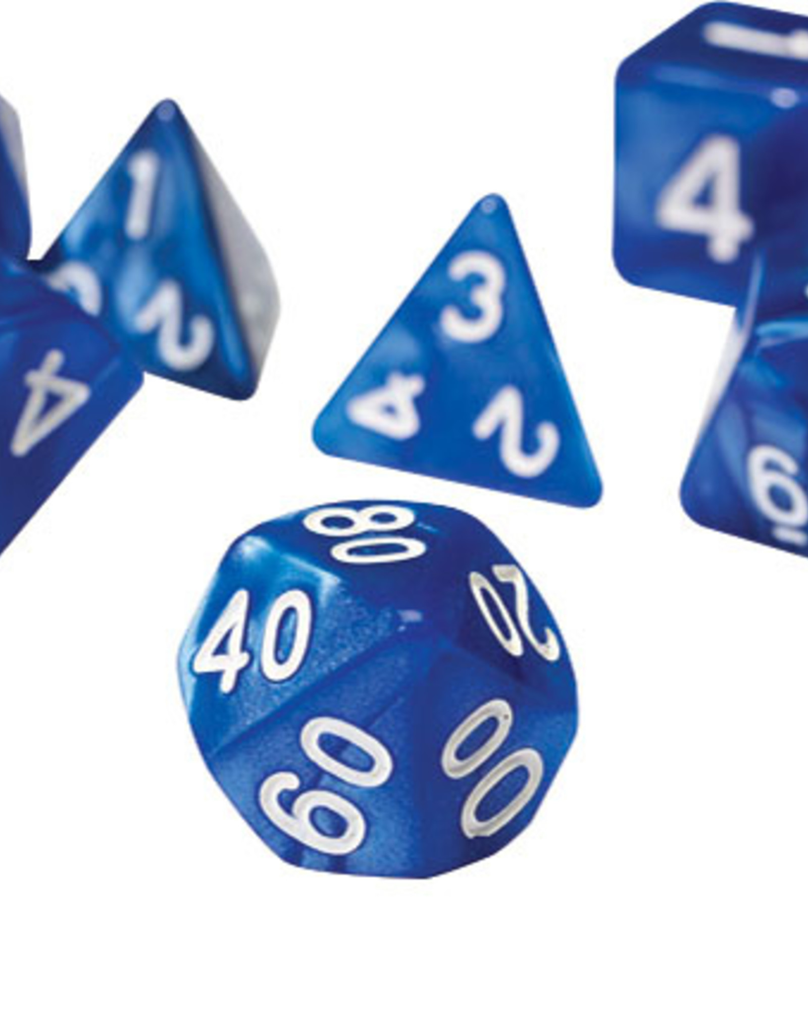 RPG Dice Set (7): Pearl Blue Acrylic