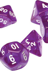 RPG Dice Set (7): Translucent Purple Resin