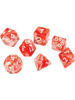 RPG Dice Set (7): Red Cloud Transparent Resin