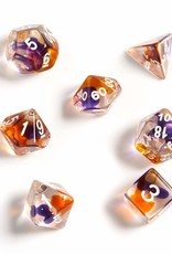 RPG Dice Set (7): Purple, Orange Clear