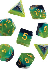 RPG Dice Set (7): Green, Blue Translucent