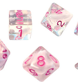 RPG Dice Set (7): White Cloud, Pink Ink
