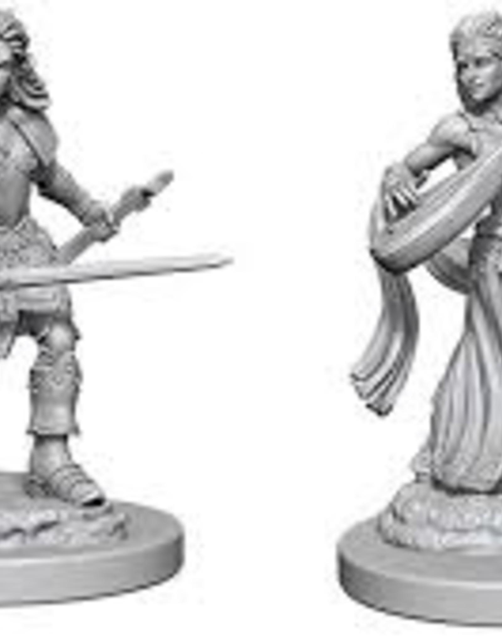 Pathfinder Deep Cuts Unpainted Miniatures: W1 Elf Female Bard