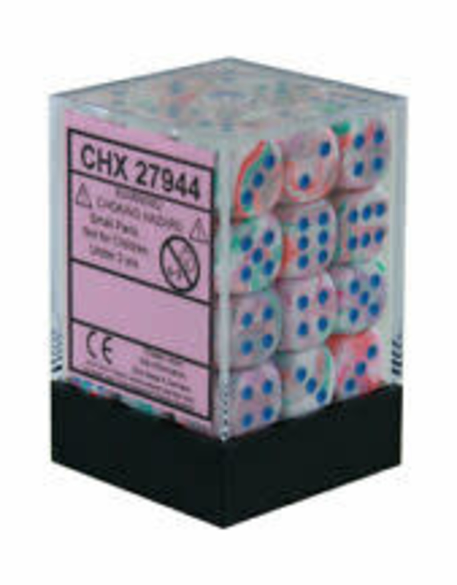 Dice Menagerie 10: 12mm D6 Festive Pop Art/Blue (36)