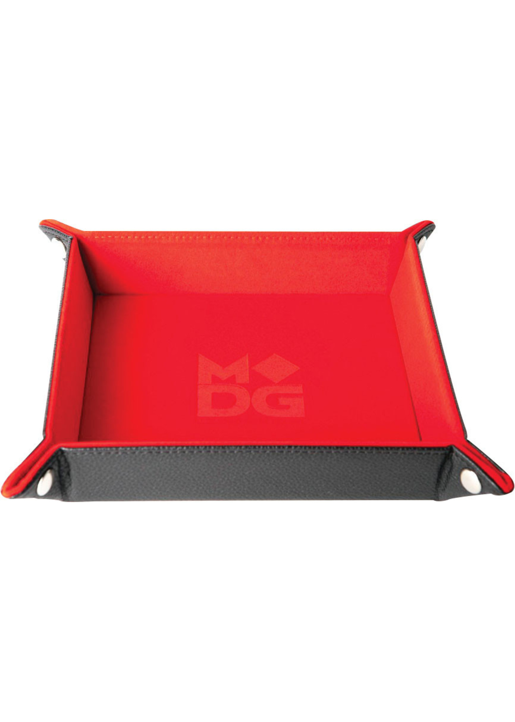 Rede Velvet Folding Dice Tray with Leather Backing
