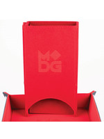 Fold Up Velvet Dice Tower: Red