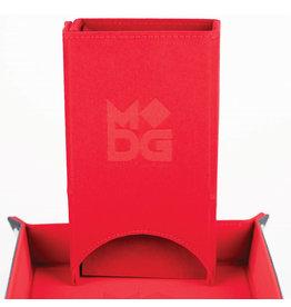 Fold Up Velvet Dice Tower: Red